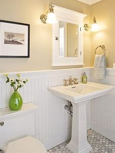 Clean, classic and practical bathroom