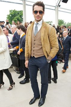 David Gandy Front Row at Burberry Prorsum [Photo by James Mason]