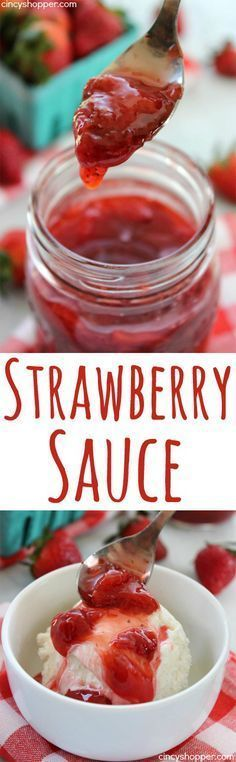 Strawberry Sauce - perfect for ice cream pancakes waffles cakes cheesecakes and more. Strawberry Sauce - perfect for ice cream pancakes waffles cakes cheesecakes and more. Strawberry Sauce, Strawberry Recipes, Cheesecake Strawberry Topping, Dessert Sauces, Dessert Recipes, Cheesecake Toppings, Salsa Dulce, Ice Cream Toppings, Sweet Sauce
