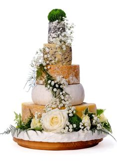 Our chosen cheese tower. Four-tissimo! - The Cheese Shed Types Of Wedding Cakes, Cool Wedding Cakes, Fun Wedding Cake Toppers, Cheese Tower, Vegetarian Cake, Artisan Cheese, Wedding Catering, Rustic Wedding, Wedding Ideas