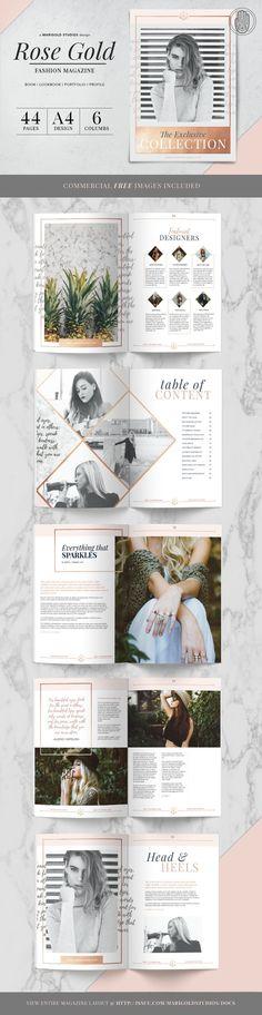 ROSE GOLD Theme | Magazine by Marigold Studios on /creativemarket/
