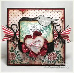 A Christmas Thank You using Stampin Up Punch Potpourri