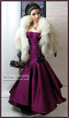 fashion doll, 2008 120eggplantgown1 | Flickr - Photo Sharing!