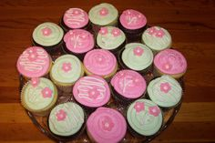 Image detail for -Cherry Blossom cupcakes and cookies for my cousins baby shower~
