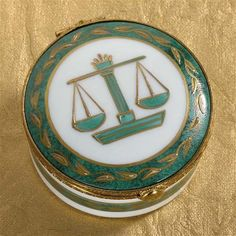 Law-themed limoges trinket box