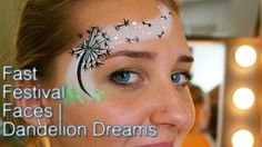 Dandelion Dreams- Festival Face Paint Design