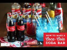 DIY Coca-Cola Bar (instead of an Italian soda bar!!) genius. I LOVE coke.