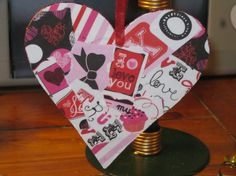 Valentine's Day Love Glittered Red Pink and Black by VioletVox, $6.00