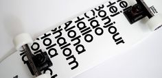 Fonts on a Buddy Carr skateboard by Antonio Carusone #fonts #typography