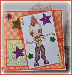 Left of Center Creative Challenge #146 - Feisty Ladies with Oddball Art Stamps