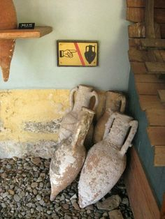 Big amphoria's at the Bodrum Museum of Underwater Archeology