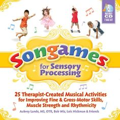 Songames for Sensory Processing | Fun and engaging for kids ages 3-8, Songames are musical activities for improving fine-and gross-motor skills, muscle strength, and rhythmicity. #ad