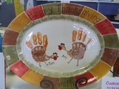Turkey handprint plate.