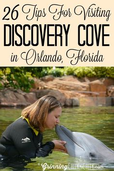 26 Tips for Visiting Discovery Cove in Orlando, Florida including tips for what to pack, what not to pack, and some great tips for swimming with the dolphins