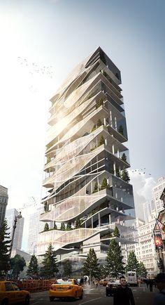 Instagram: rofka_designstudio    The Oculus skyscraper in New York on Behance by Rodrigo Carmona