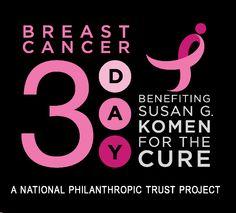 Breast cancer 3 day walk fundraiser