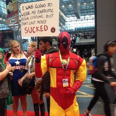 #NYCC #NYCC15 #NYCC2015 #newyorkcomiccon #Newyorkcomic2015 #nycomiccon #nycomiccon15 #cosplay #deadpool #ironman #fantasticfoursucked