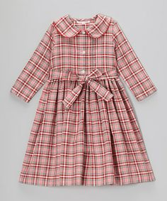 Look at this #zulilyfind! Gray & Red Plaid Jane Dress - Toddler & Girls by Pears + Bears by Kayce Hughes #zulilyfinds