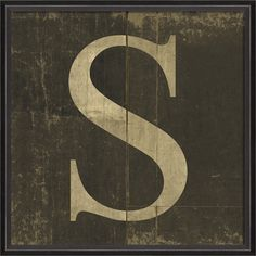 Letter S - Spicher and Company - $50.00 - domino.com #DominoMag #pintowin