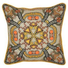 Check out this item at One Kings Lane! Parke 18x18 Linen Pillow, Multi