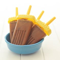 chocolate peanut butter coffee pops by @spabettie