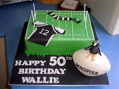 Rugby Cake Ideas And Designs Birthday Cakes For Men, Kids Birthday Gifts, Themed Birthday Cakes, 21st Birthday, Birthday Ideas, Happy Birthday Girl Quotes, Birthday Wishes For Girlfriend, Sports Themed Cakes, Sports Theme Birthday