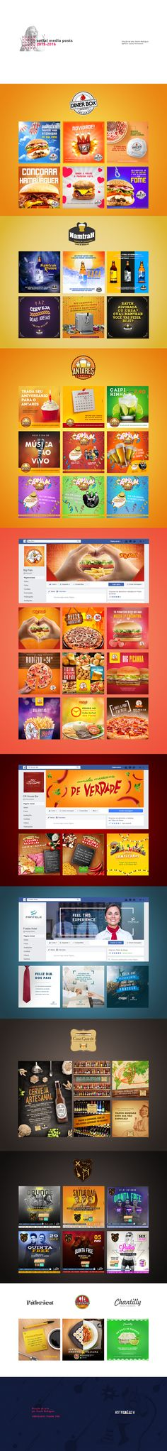 Social Media Posts - 2015/2016 on Behance