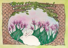 Zentangle Tree Frame by Susan Cirigliano, CZT