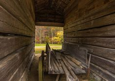 Fall Shot Thru Barn - Photo by RD Hill Photography