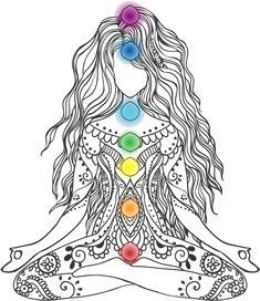 Meditation Art, Chakra Meditation, Yoga Art, Chakra Tattoo, Chakra Art, Mandala Design, Mandala Art, Spiritual Drawings, Spiritual Figures
