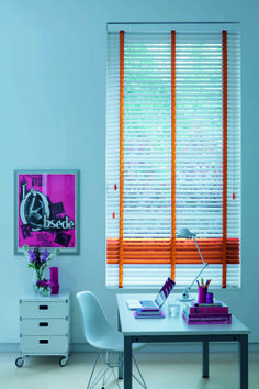 Colour Pop wooden blind - Fizz Orange. Just the job to add some sunshine and happiness to your home this Summer.