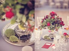 Dark red and grey wedding decoration inspired by Victorian era, brought by Moruska Dizajn, foto by Fero Liptak Photography