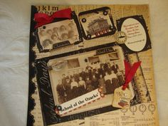 """Rebecca used the Graphic 45 """"ABC Primer"""" for her vintage pictures of her Grandparent's.  Visit www.scraptownlady.com and also www.scrap-town-lady.blogspot.com for Rebecca full list of products used from Scraptownlady.com"""