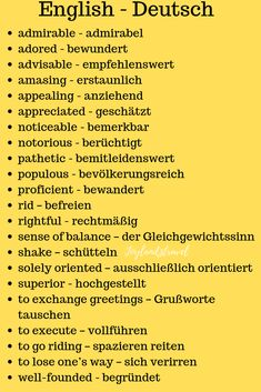 Deutsch wortschatz Really helpful for people who learn both of these languages German Grammar, German Words, English Words, German Language Learning, Learn A New Language, English Language, German English, Learn English, English Vocabulary List