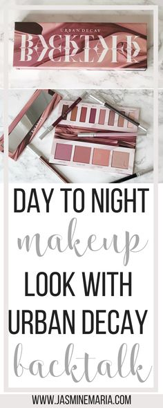 Created a Day to Night makeup look using the Urban Decay Backtalk palette. I am reviewing the palette and letting you know if it's worth the hype and purchase.