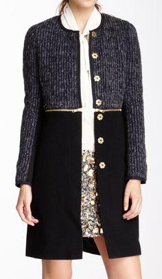 Zip wool jacket