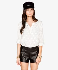 Elephant print blouse. This could be on the elefante board too. I've seen this in-store, it's subtle, but cute/pretty! $22.80