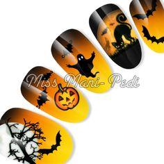 Halloween water slide decals code: K186. Available from www.missmanipedinailart.com