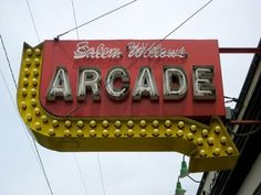 Salem Willows Arcade Vintage Sign Salem MA
