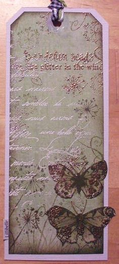 tag made with rubber stamps and mixed media by Lillibelle