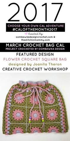I hope everyone is enjoying this month's crochet along project! See my finished crochet bag below and find out which project we will be making in the Choose Your Own CAL Adventure this April! via @OombawkaDesign