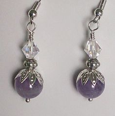 """Here's a cool @etsy item made by shop Luzjewelrydesign. """"Amethyst Birthstone Earrings, ..."""" $16.00.   Posted from @orangeappetsy, a great way to browse Etsy. http://hidoodle.com/orange"""