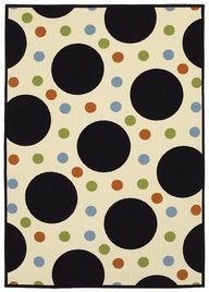 Fun and fresh circle patterned area rug!