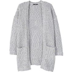 MANGO Chunky knit cardigan (€46) ❤ liked on Polyvore featuring tops, cardigans, outerwear, jackets, sweaters, long sleeve cardigan, thick knit cardigan, long sleeve tops, mango tops and cardigan top