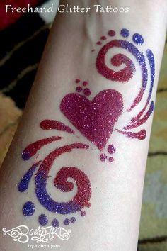 Glitter Tattoos   Make Up   Glitter tattoo stencils, Tattoos ...