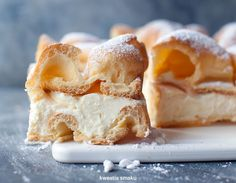 Karpatka traditional polish cake cozy recipes pinterest parboiled superior custard pudding sprinkle top of cake with powdered sugar recipe in polish use google translate forumfinder Image collections