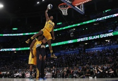 new photos 16dbe dd8a5 Pacers Paul George Jumps Over Teammates Best Dunks, Indiana Pacers, Nba  Slam Dunk Contest
