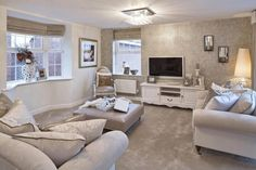 Your lounge at home is a place where the whole family spends the best moments of their day. On weekends your lounge becomes Cream Living Rooms, Cozy Living Rooms, New Living Room, Living Room Interior, Home And Living, Living Room Decor, Cream Carpet Living Room, Grey Lounge, Front Rooms