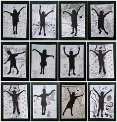 33 ideas shadow art for kids 6th Grade Art, Fourth Grade, Ecole Art, Shadow Art, Art Lessons Elementary, Middle School Art, Collaborative Art, Elements Of Art, Art Lesson Plans