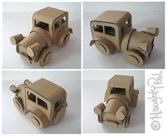 Cardboard Crafts: Cardboard Toy Cars